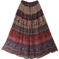 Gypsy Long Skirt w/ Flower Print   ThisNext