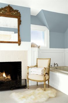 The most beautiful blue gray paint colors for every room in your home, featuring images of each color in real homes and a variety of rooms such as living rooms, kitchens and bedrooms. Updated for 2020.