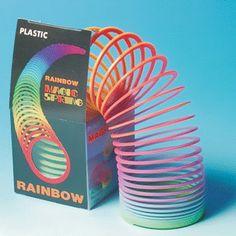 Rainbow Coloured 'Slinky' Magic Spring
