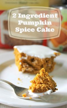 Stuff and Nonsense: 2 Ingredient Pumpkin Spice Cake