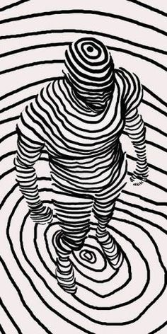 line lines drawing contour drawings using perspective illusion illusions straight cross op interesting graphic think would paper human could pattern