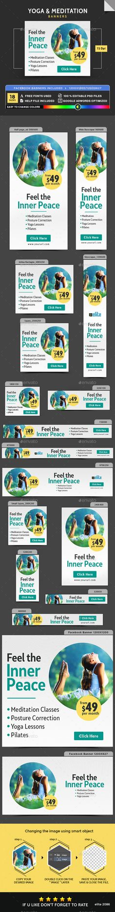 Yoga & Meditation Banners - Banners & Ads Web Elements Download here : https://graphicriver.net/item/yoga-meditation-banners/19263002?s_rank=78&ref=Al-fatih