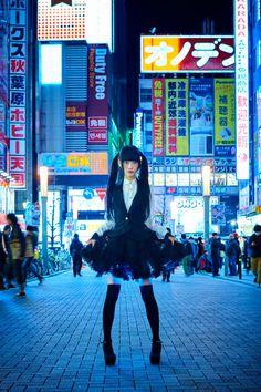 """Hikaru Skirt"" (Hikaru Sukāto  lolita style skirt, that has LED lights that glow different colors)"