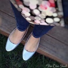 Kimchi Blue Silver Ballet Flats Staple piece! Gorgeous metallic silver. Worn once, in beautiful condition. 👗The Chic Shed; A Current and Classic Fashion Curation. 👗 🎁10% OFF BUNDLES🎁 I ❤️ THE OFFER BUTTON😊 ❌NO PP, TRADES, HOLDS❌  💖15% OFF RETURN BUYER BUNDLES💖 Urban Outfitters Shoes Flats & Loafers