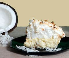 Coconut Cream Pie with Meringue (also, banana and chocolate variations)