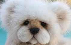 Mink Fur Teddy Bear OOAK www.kimbearlys.com