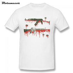 d323559c374  23.50 S-3XL Men s T-Shirts Bloody Gun Series Tees O-neck 100% Cotton Short  Sleeve Plus Size Men s Exercise T-Shirt Clothes MTWQ100