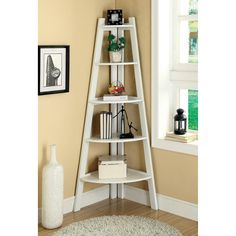 Have to have it. Merill 5-Tier Ladder Corner Shelf - White - $159.99 @hayneedle