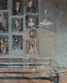 """Intérieur Collectionneur XIII, 2014,"" original figurative painting by artist Fanny Nushka Moreaux (France) available at Saatchi Art #SaatchiArt"