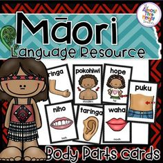 New Zealand Maori Language Resource Body Parts Cards Infant Activities, Activities For Kids, Maori Songs, Paris Cards, Play Based Learning, Childhood Education, Teaching Tools, Early Childhood, New Zealand