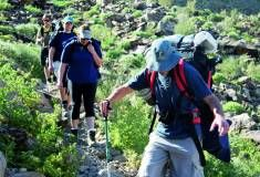 Hike the Fish River Canyon Trail - the second biggest canyon in the world. Although this is in Namibia it is a very popular destination for hikers. South Africa, Trail, Two By Two, Mens Sunglasses, Hiking, River, Fish, Popular, Places