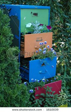 Another file cabinet planter