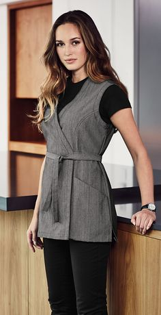 This Denim Housekeeping with Pockets has combined modern fabrics with functionality ♥ #Denim #Aprons #Hospitality