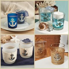 Anchor Candle Holders Nautical Wedding Favors, Nautical Theme, Anchor, Candle Holders, Baby Shower, Candles, Favours, Tableware, Cruise