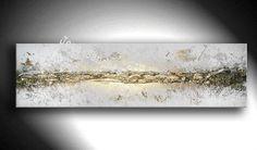 Peintures Acryliques, JEAN SANDERS -Strukturbild- 140x40x4cm est une création orginale de JeanSanders sur DaWanda