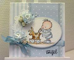 LillBlomman skapar: :: Ännu ett Lili of the Valley bidrag :: Kids Cards, Baby Cards, Lily Of The Valley, Handmade Cards, Babys, Scrapbooking, Shower, Craft Cards, Toddler Girls