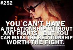 Relationship Worth Fight