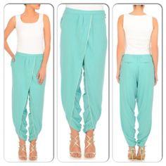 Jade green dhoti pants