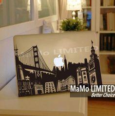 City-Macbook Decals Macbook Stickers Macbook Skins Macbook Cover Skins Vinyl Decal for Apple Laptop Macbook Pro Air  Partial Skin