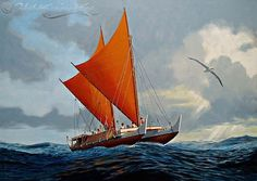 Hokulea by Herb Kane. Hawaiian Decor, Hawaiian Art, Hawaiian Tattoo, Polynesian Art, Polynesian Culture, Outrigger Canoe, Sailboat, Sailing Ships, Art History