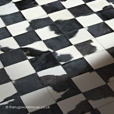 Avignon Rug (texture close up), a monochrome patchwork style natural cowhide leather rug (handmade in Spain) http://www.therugswarehouse.co.uk/patchwork-rugs/avignon-rug.html #rugs #monochrome