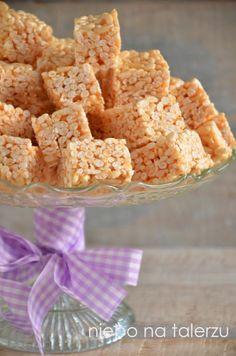 Ciasto bez pieczenia - z ryżu preparowanego - niebo na talerzu