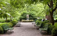 Gramercy Park might be the most famous pocket park in the world. First enclosed almost 180 years ago, the two-acre park is accessible only to its immediate neighbors. Fortunately, the rest of Manhattan is sprinkled with pocket parks