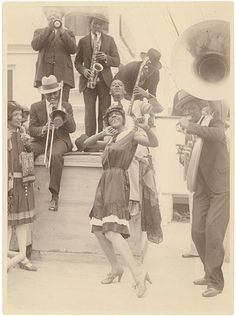 Sonny Clay's Plantation Orchestra with singer Ivie Anderson. Melbourne, 1928
