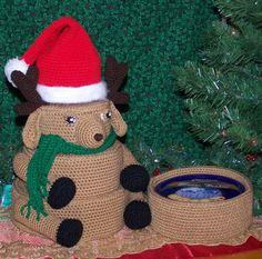 Reindeer Treasure Tower PDF Crochet Pattern by FourBeesDesigns, $6.95