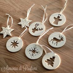 2014 pcs) earth aesthetic creativity ceramic hollow listing the christmas tr. - 2014 pcs) earth aesthetic creativity ceramic hollow listing the christmas tree ornaments will g - Ceramic Christmas Decorations, Christmas Tree Decorations, Christmas Tree Ornaments, Snowflake Ornaments, Ceramic Christmas Trees, Christmas Cookies, Christmas Clay, Homemade Christmas, Modern Christmas