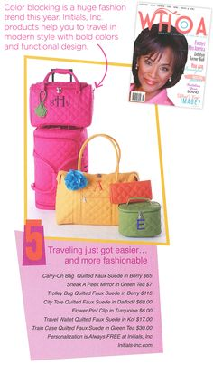 whoa-summer-article-web / Initials, Inc. travel collection / bold and bright color for fall