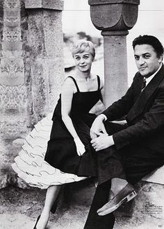 Giulietta Masina and Frederico Fellini