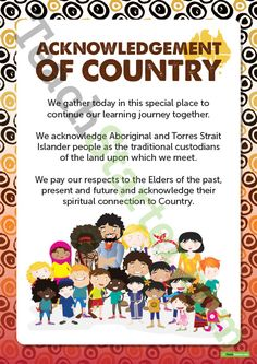Teaching Resource: A simple Acknowledgement of Country poster to display in your classroom. Aboriginal Art For Kids, Aboriginal Education, Indigenous Education, Aboriginal Culture, Aboriginal History, Indigenous Art, Aboriginal Symbols, Aboriginal People, Early Education