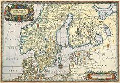 1696. Nova Et Accurata ORBIS ARCTOI tabula geographica / vanha maakartta