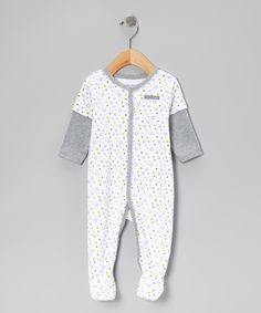 Take a look at this Calvin Klein Underwear White Star Layered Footie on zulily today!