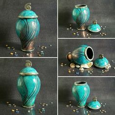 My amazing raku pottery urn for human or Pet ashes. Simply and elegant