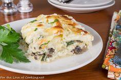 Spinach Mushroom Pasta, Mushroom Lasagna, Creamy Mushrooms, Spinach Stuffed Mushrooms, Stuffed Peppers, Baked Lasagna, Chicken Lasagna, Spinach Lasagna, Healthy Lasagna