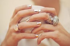 metallic + rings