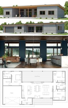 Small House Plan, Modern Home Plan, Single story floor plan