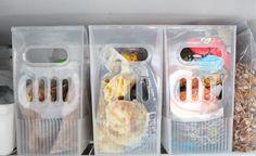 revistero de plástico para almacenar comida en congelador
