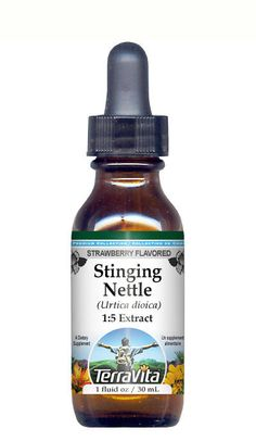 Stinging Nettle Herb Glycerite Liquid Extract (1:5) Strawberry Flav...