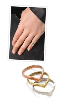 SunaharA   Malibu Mid Knuckle Ring set, $46; shopbop.com