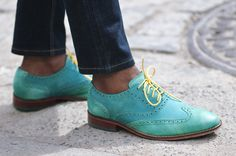 Green shoes Cole Haan, oooh Spring colors...