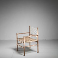 Oak and rope side chair, Denmark, 1960s