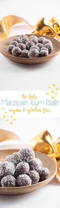 No-Bake Marzipan Rum Balls #vegan #gf #cookies #christmas #holidays| ElephantasticVegan.com
