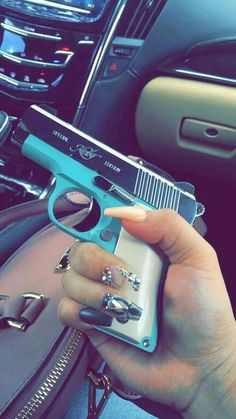 If you're looking to pick up a new concealed carry pistol or just another gun to take to the range, Fille Gangsta, Gangsta Girl, Tiffany Blue Gun, Tiffany Blue Handgun, Tiffany Blue Nails, Rauch Fotografie, Kimber Micro, Custom Glock, Bad Girl Aesthetic