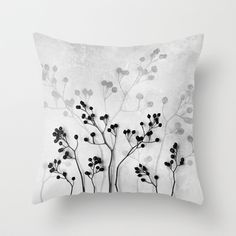 Abstract Flowers 5 Throw Pillow by Mareike Böhmer Photography - $20.00