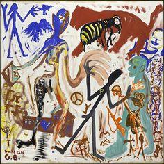 thirdorgan:  A.R. Penck (Germany, 1939) Traudel Ralf-G.B. 1976
