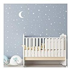 Gender neutral nursery room ideas are becoming more popular every day, with more understanding of gender fluidity around the world, you will find more and… Baby Room Wall Decor, Baby Nursery Decor, Nursery Room, Bedroom Art, Sky Nursery, Nursery Curtains, Nursery Design, Bedroom Themes, Nursery Themes