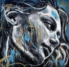 ♥ street art David Walker – Graffiti World David Walker, Walker Art, Street Art Banksy, Graffiti Wall Art, Spray Paint Art, Illustrations, Street Artists, Portrait Art, Urban Art